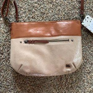 NWT The Sak Oleta Leather Sparkle crossbody purse